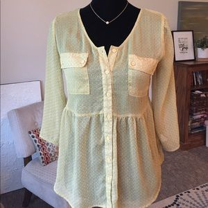 Mossimo sheer blouse